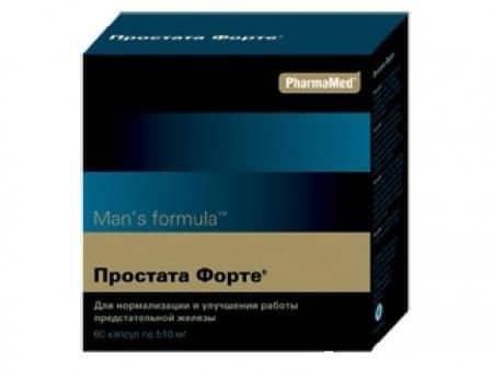 упаковка препарата для поддержания функций предстательной железы