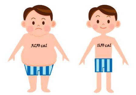 рисунок толстого и худого мальчика