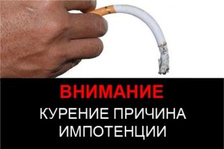 курение причина импотенции