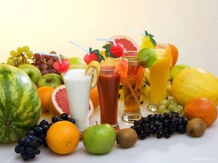 фрукты и коктейли