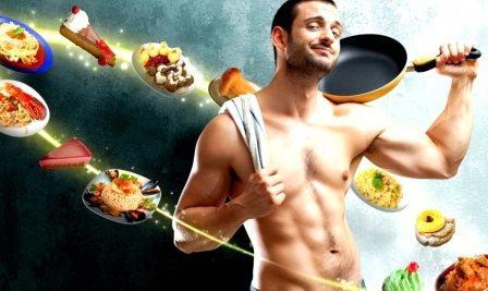 мужчина и еда