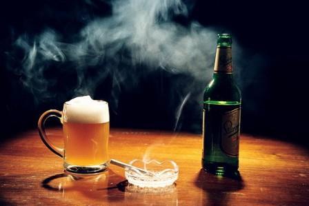 пиво сигареты