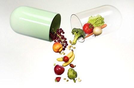 картинка овощей и фруктов в капсуле