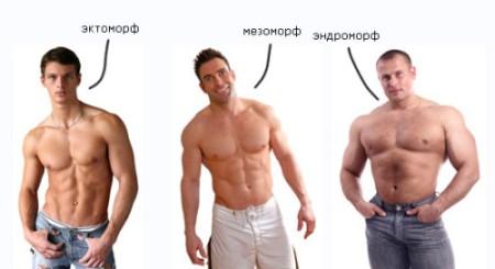 виды фигуры мужчины