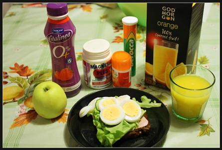 полезный завтрак на столе