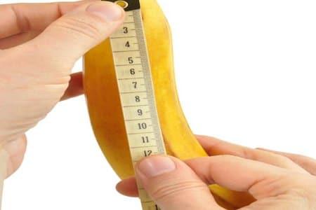 измерения банана