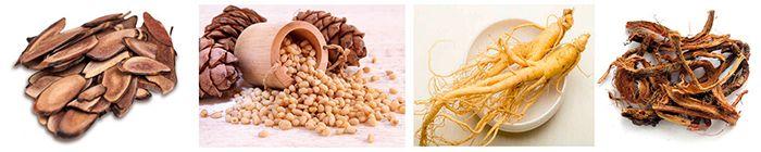 кора, зерна и корешки, которые входят в состав препарата