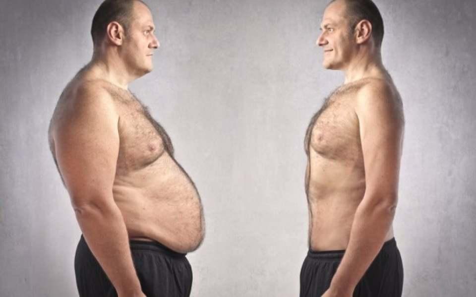 мужчина до и после похудения