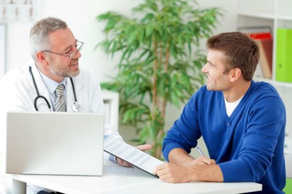 пациент у мужского врача