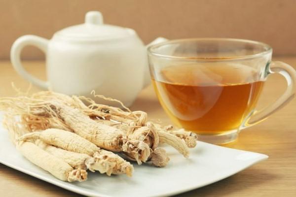 крепкий женьшеневый чай