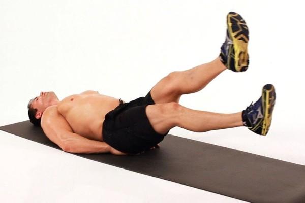 упражнение ножницы на полу